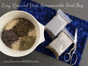 Herb & Rice Microwavable Heat Bag
