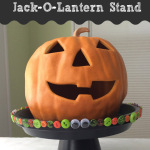 Quick Halloween Craft: Jack-o-Lantern Stands and Treat Trays