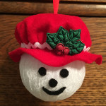 Mr. & Mrs. Frosty Rag Ball Ornaments