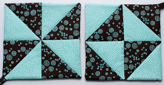Half-square triangles potholders