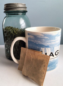 Make your own inexpensive teabags for herb tea.