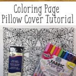 Coloring Page Pillow Tutorial