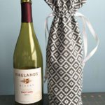 Fabric Wine Bottle Gift Bag Tutorial