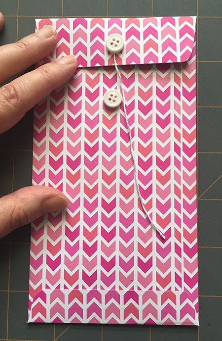 DIY Scrapbook Paper Cash Envelope with Button Closure