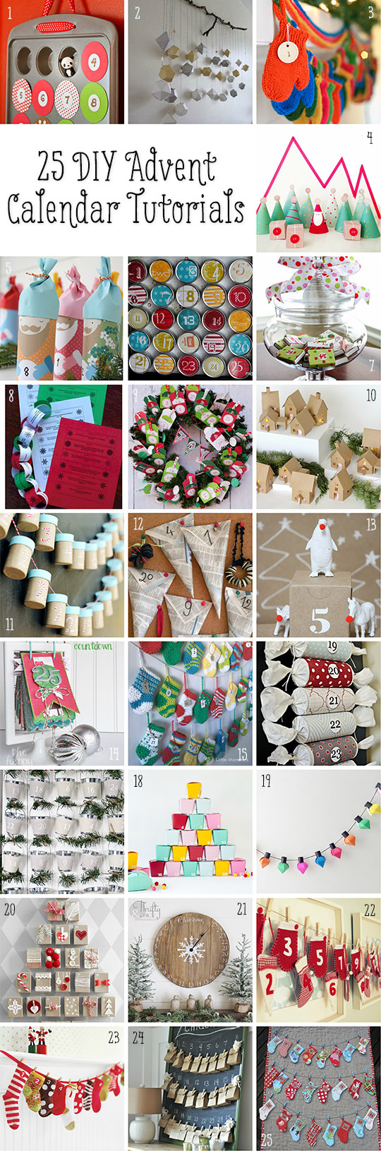 25 DIY Advent Calendar Tutorials