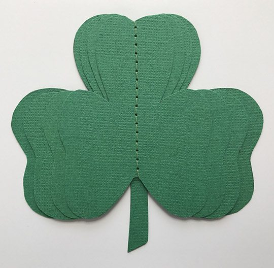 3D St. Patrick's Day Shamrock Shadowbox