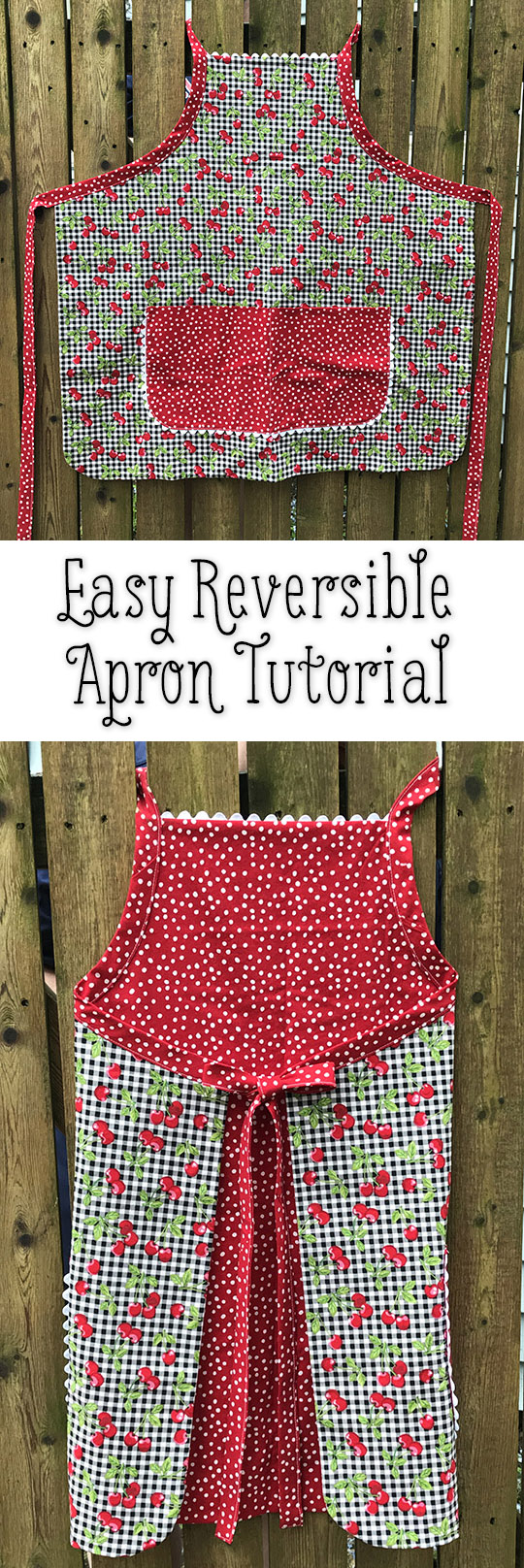 Easy Reversible Apron Tutorial