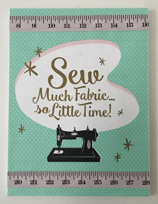 Sew Much Fabric, So Little Time