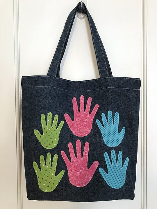 Make a Handprint Tote for Mom