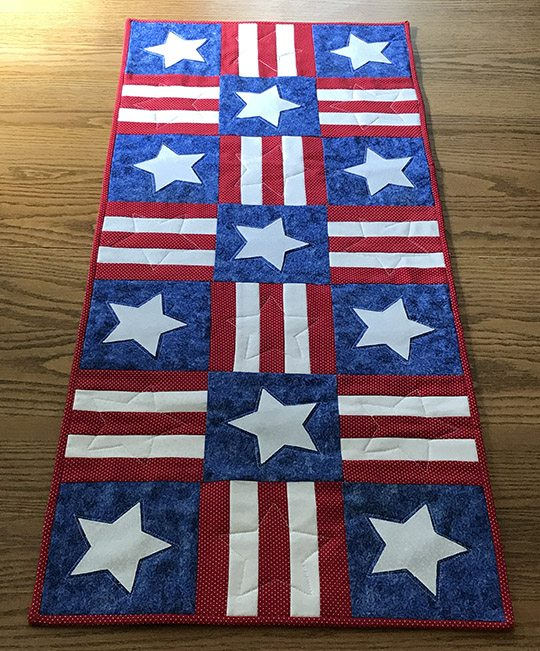 Stars & Stripes Table Runner
