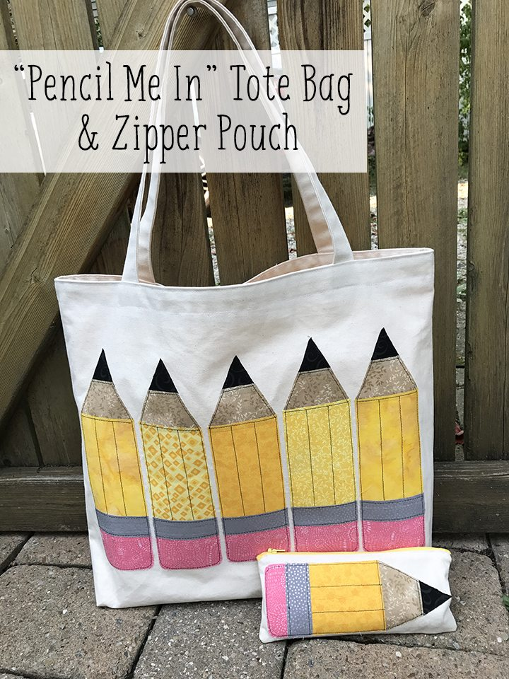 """Pencil Me In"" Tote Bag & Zipper Pouch"