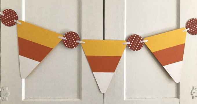 Candy Corn Paper Banner