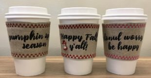 Autumn Coffee Cup Cozies