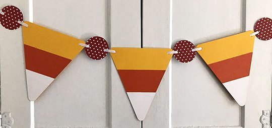 Candy Corn Paper Banner Tutorial
