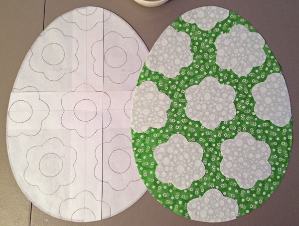 Easter egg placemat tutorial: Applying the first layer of shapes