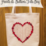 Hearts & Buttons Tote Bag Tutorial