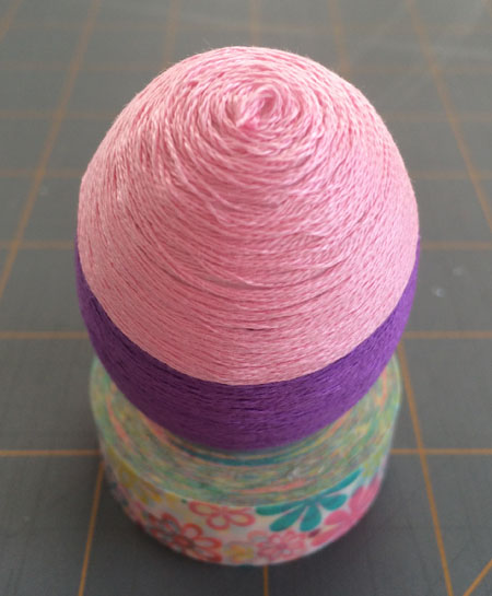 Easter Crafts & Decoration: Embroidery Floss Easter Eggs
