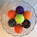 Quick Halloween Fabric Balls