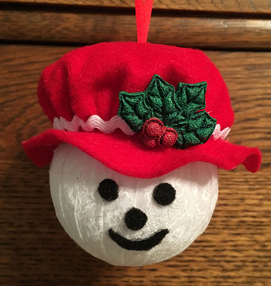 Mr & Mrs Frosty Ornaments