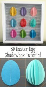 Silhouette Easter Crafts & Decorations - 3D Easter Egg Shadowbox