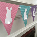 Easter Crafts: Easy Paper Easter Bunny Banner