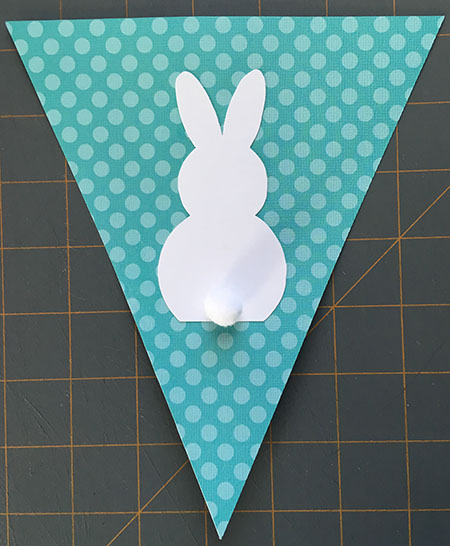 Easter crafts - Easter bunny paper banner