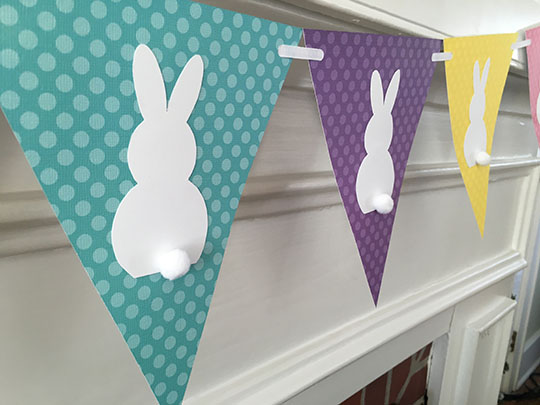 Easter crafts - Easter bunny paper banner tutorial