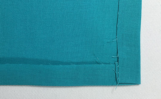 How to hem mitered corners - hem 2