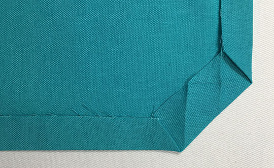 How to miter hemmed corners - corner 5