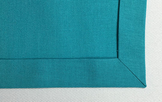 How to miter hemmed corners - corner 7
