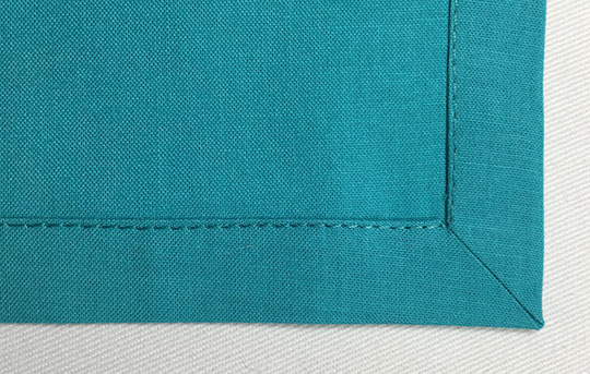 How to miter hemmed corners