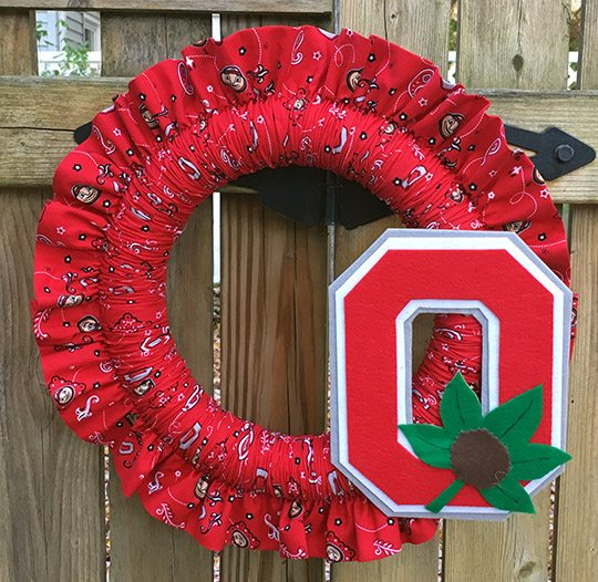 Easy Ruffled Fabric Wreath Tutorial Clever Little Mouse