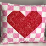 Patchwork Valentine Heart Pillow