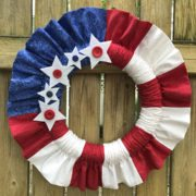 Red white and blue july 4th stars and stripes wreath