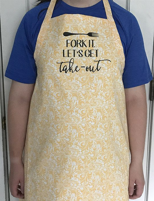 Fork It, Let's Get Take-out Apron Tutorial