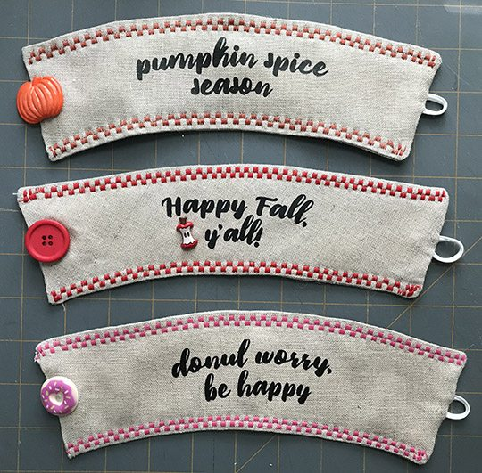 Autumn coffee cup cozies for Cup cozy pillow
