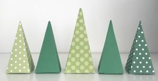 Folded Paper Christmas Tree Boxes