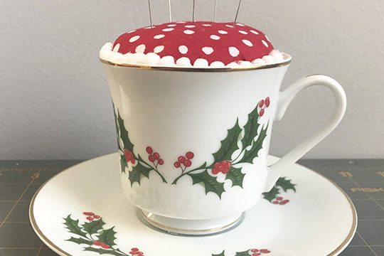 DIY Teacup Pincushion