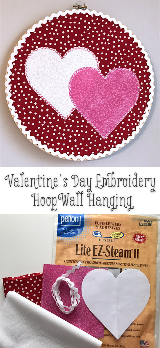 Valentine's Day Crafts - Appliqué Hearts Wall Hanging Wreath