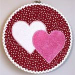 Appliqué Hearts Embroidery Hoop