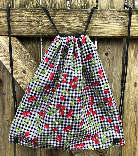 Easy Lined Drawstring Backpack Tutorial