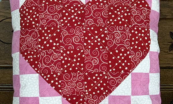 Patchwork Valentine Throw Pillow Pattern